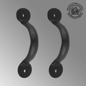 <PRE>2 Door or Drawer Pull Black Wrought Iron Bean 3 3/4&quot; x 11/16&quot; </PRE>