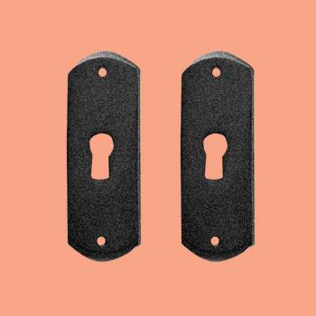 <PRE>Escutcheon Black Wrought Iron Keyhole Cover 3inchH Pack of 2 </PRE>zoom2