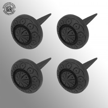 <PRE>4 Black Iron Nails Round Clavos Decorative Wrought Iron Nails 3 Inch X 2 Inch</PRE>zoom2
