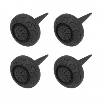 4 Black Iron Nails Round Clavos Decorative Wrought Iron Nails 3 Inch X 2 Inch