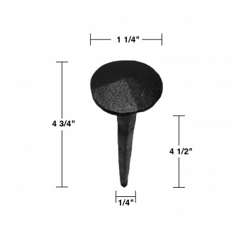 spec-<PRE>6 Clavos Wrought Iron Nails Black Iron Nails 4 3/4 X 1 1/4</PRE>