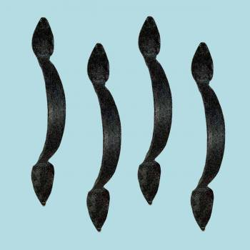 <PRE>4 Door Pulls Black Wrought Iron Rustproof Set of 4 </PRE>zoom2