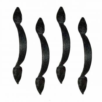 <PRE>4 Door Pulls Black Wrought Iron Rustproof Set of 4 </PRE>zoom1