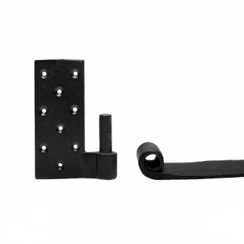 <PRE>2 Pintle Bean Door Hinge Black Wrought Iron 24 1/2inch H </PRE>zoom7