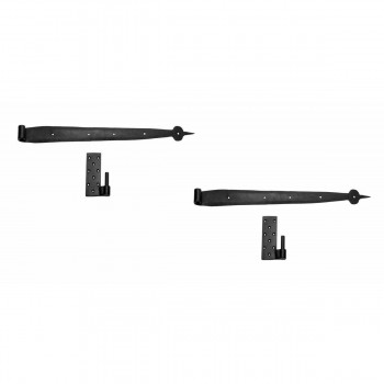 <PRE>2 Pintle Bean Door Hinge Black Wrought Iron 24 1/2inch H </PRE>zoom1