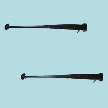 <PRE>2 Bean Strap Pintle Door Hinge Black Hand Forged 16 1/4&quot; </PRE>