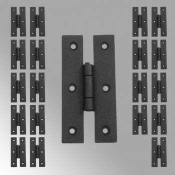 Cabinet Hinge Black Wrought Iron Hinge H Flush 3 H Pack of 20