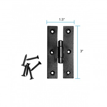 spec-<PRE>Renovator's Supply Black Iron H-Hinges For Cabinet Doors Set Of 6 </PRE>