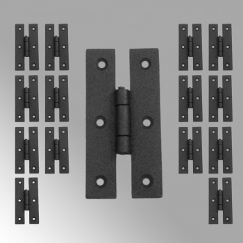Cabinet Hinge Black Wrought Iron Hinge H Flush 3 H Pack of 15