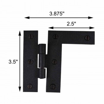 "spec-<PRE>H-L Flush Cabinet Hinge Iron Right Side 3.5""H </PRE>"