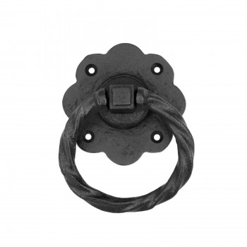 10 Ring Pull Cabinet or Drawer or Door Wrought Iron Black 5 Ring Pull Ring Pulls Iron Ring Pulls