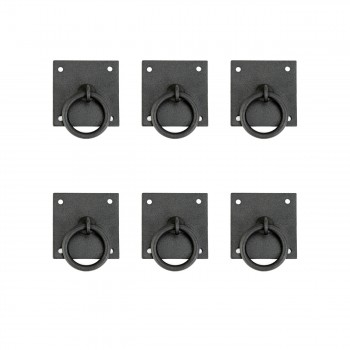 6 Cabinet Ring Pull Mission Black Wrought Iron 1 34