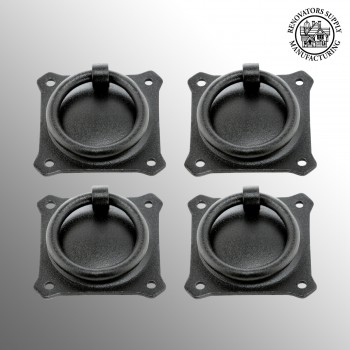 <PRE>Wrought Iron Mission Style Ring Pull Black Cabinet 2in Set of 4</PRE>zoom2