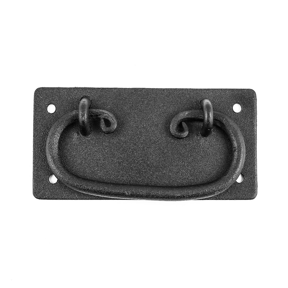 2 Cabinet Drawer Door Pull Black Wrought Iron Mission 4 Furniture Hardware Cabinet Pull Cabinet Hardware