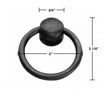 spec-<PRE>4 Ring Pulls Black Wrought Iron Mission Style Set of 4 </PRE>