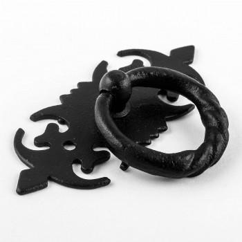 Cabinet Ring Pull Wrought Iron Black Rustproof Finish Door 312 in. Set of 2 Ring Pull Ring Pulls Iron Ring Pulls