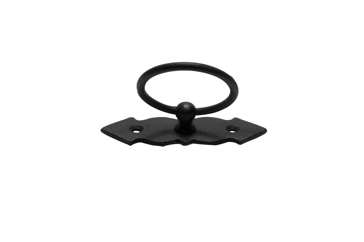 Ring Pull Cabinet Door Drawer Wrought Iron Black 4 Set of 2 Ring Pull Ring Pulls Iron Ring Pulls