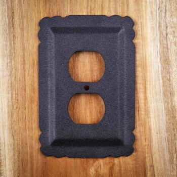 2 Switchplate Black Steel Outlet RSF Switch Plate Wall Plates Switch Plates