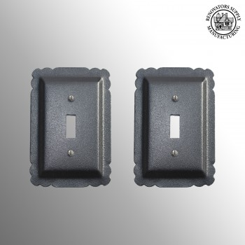 spec-<PRE>Switchplate Black Steel Single Toggle set of 2 </PRE>