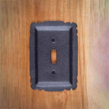 Switchplate Black Steel Single Toggle set of 2 Switch Plate Wall Plates Switch Plates
