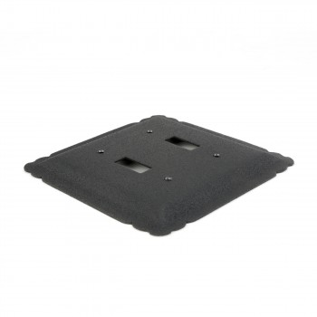 2 Switchplate Black Steel Double Toggle Switch Plate Wall Plates Switch Plates