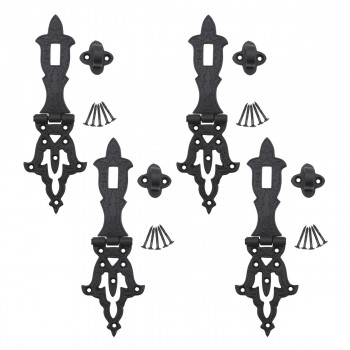 <PRE>4 Decorative Hasp Black Wrought Iron 2 3/4'' H x 8 1/4'' W </PRE>