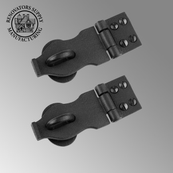 2 Hasps Black Wrought Iron Rustproof Set of 2 Wrought Iron Hasp Hasp Wrought Iron Hasp