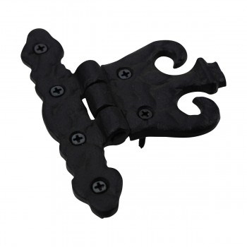 <PRE>Cabinet Hinge Black Wrought Iron Rustproof Finish Set of 6 </PRE>zoom6