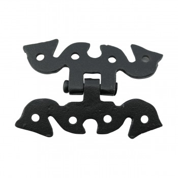 6 Door or Cabinet Surface Hinge Black Wrought Iron 2 34 H Cabinet Door Hinges Cabinet Hinge Wrought Iron Hinge