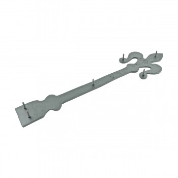 <PRE>2 Black Wrought Iron Dummy Door Hinge Fleur De Lis 16inch </PRE>zoom8