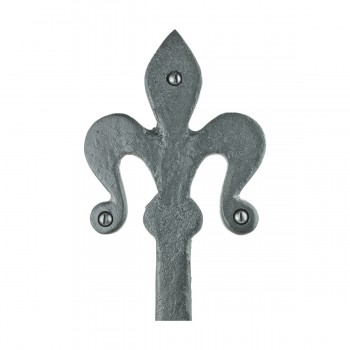 <PRE>2 Black Wrought Iron Dummy Door Hinge Fleur De Lis 16inch </PRE>zoom10