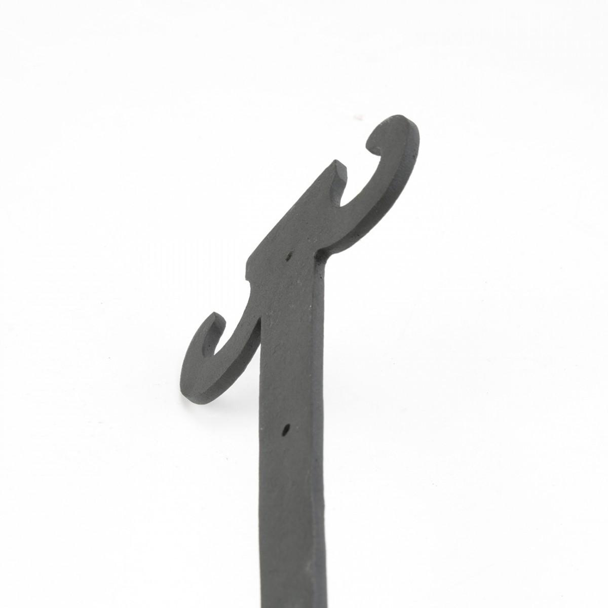4 Hinge Covers Black Wrought Iron Dummy Hinge Fleur Set of 4 | RS Door Hinges Door Hinge