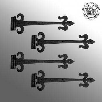 <PRE>4 Door Hinge Black Wrought Iron Strap 18inch </PRE>zoom2