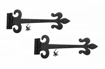 2 Heavy Iron Door Strap Hinge Fleur De Lis 15 12