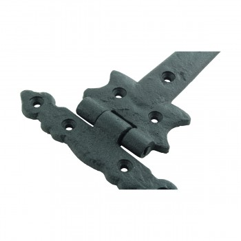 <PRE>12 Strap Hinges Spear Tip Black Wrought Iron Set of 12 </PRE>zoom8