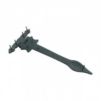 <PRE>12 Strap Hinges Spear Tip Black Wrought Iron Set of 12 </PRE>zoom6