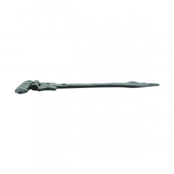 12 Strap Hinges Spear Tip Black Wrought Iron Set of 12 Door Hinges Door Hinge