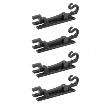 4 Slide Bolt Black Wrought Iron Door Bolt 5 inches NECKED BOLT Offset