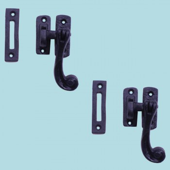 <PRE>2 Sash Window Door Lock Black Wrought Iron 4 1/2inch </PRE>zoom2