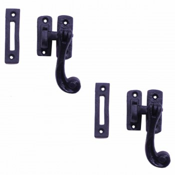 <PRE>2 Sash Window Door Lock Black Wrought Iron 4 1/2inch </PRE>zoom1