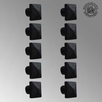 10 Cabinet Knobs Square Black Iron 1 14 D Antique Kitchen Wrought Iron Square Cabinet Knob