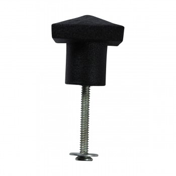 <PRE>10 Cabinet Knobs Square Black Iron 1 1/4inch D  </PRE>zoom6