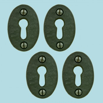 <PRE>Black Iron Keyhole Cover Escutcheon Replacement 1-3/4&quot; H 4 Pack</PRE>