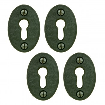 Black Iron Keyhole Cover Escutcheon Replacement 134 H 4 Pack