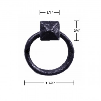 spec-<PRE>Black RSF Iron Rustproof Cabinet Pull Ring Set of 6</PRE>