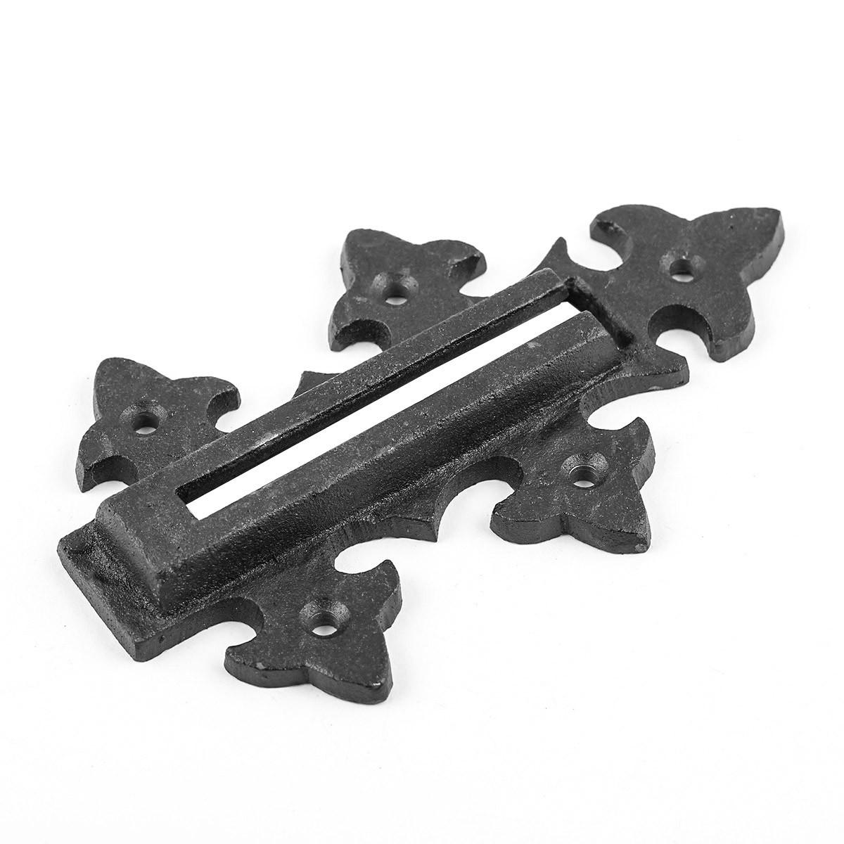 Chain Door Locks Black Wrought Iron Rustproof Set of 2 Door Bolt Door Bolts Slide Bolts
