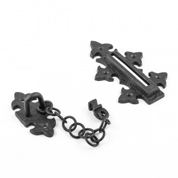 <PRE>Chain Door Locks Black Wrought Iron Rustproof Set of 2 </PRE>zoom7