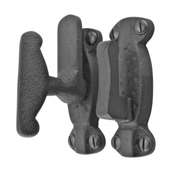 2 Cupboard Cabinet Door Latch Hand Forged Iron Cupboard Latch Latches Twist Antique Rustic Holder Lock Cast Wrought Iron