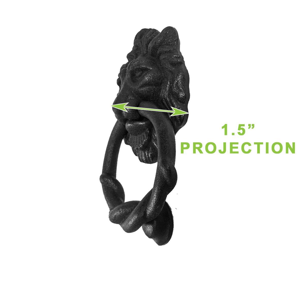 <PRE>Door Knocker Black Cast Iron Lion Rustproof Finish 6 in. H Set of 2</PRE>