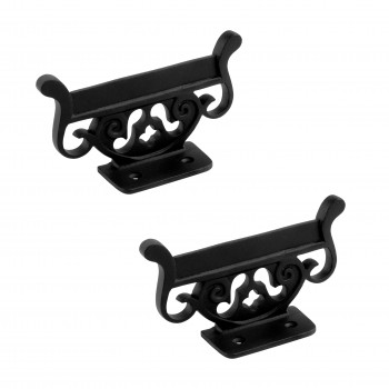 Antique Vintage Boot Scraper Black Wrought Iron Pack of 2